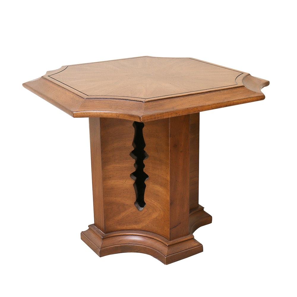 Circa 1970s Pedestal Side Table