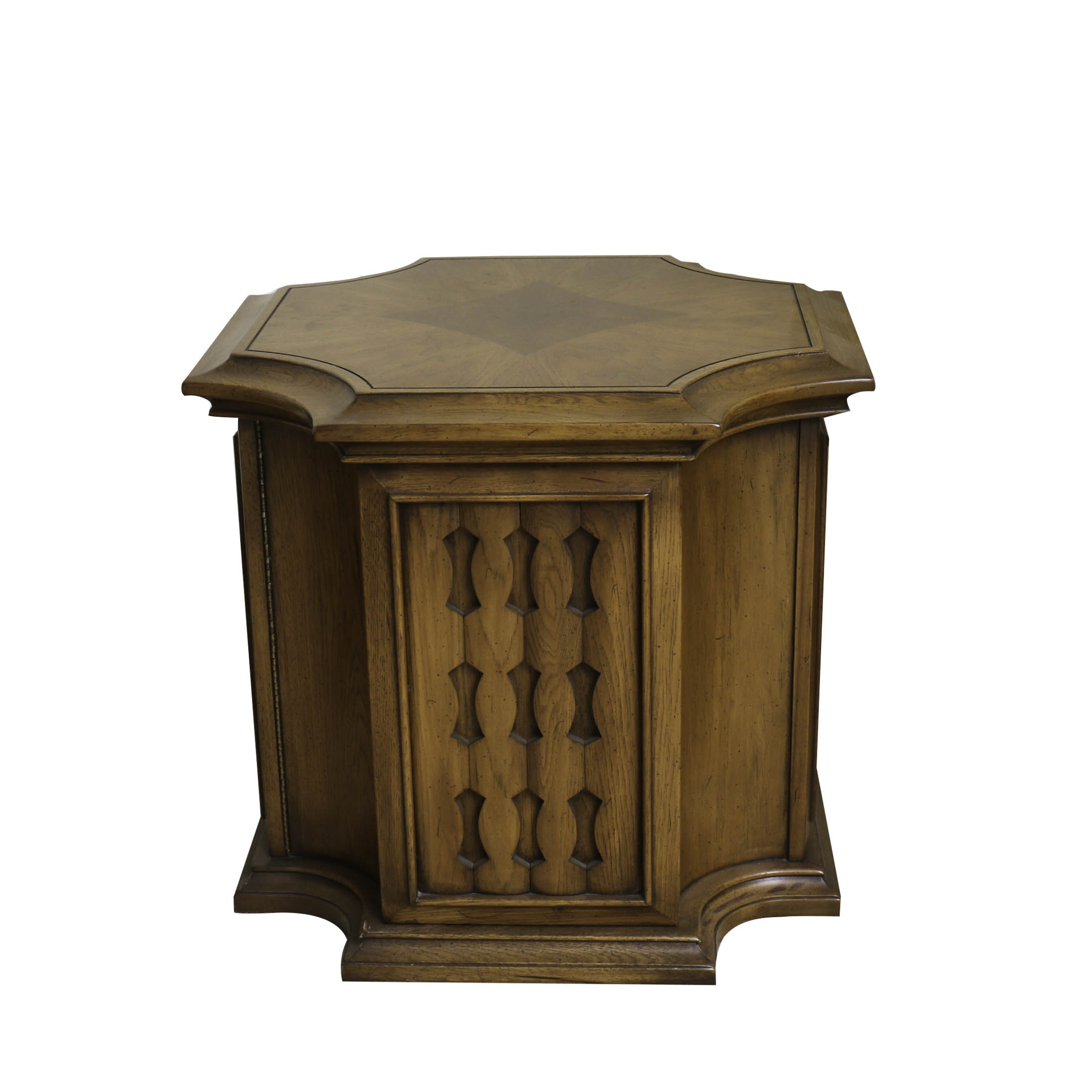 Circa 1970s Side Table with Cabinet by Gordon's, Inc.