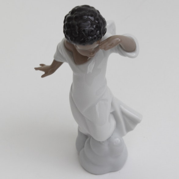 "Lladró ""Your  Special Angel"" Black Legacy Series Retired Porcelain Figurine"