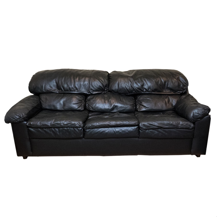 Black Leather KIVIK Ikea Sofa EBTH