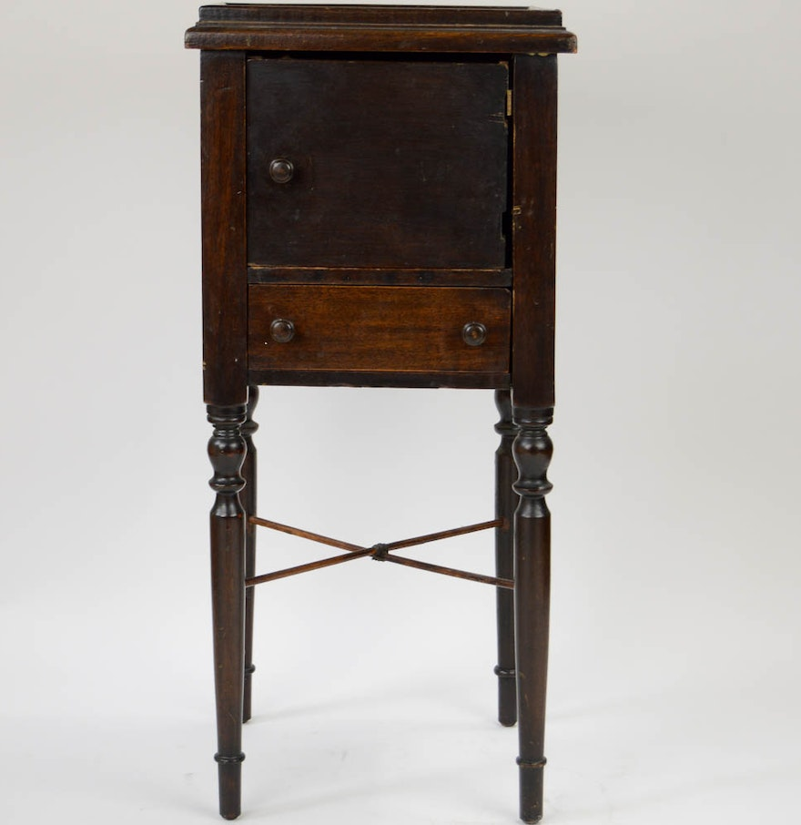Antique square side table - Antique Square Side Table