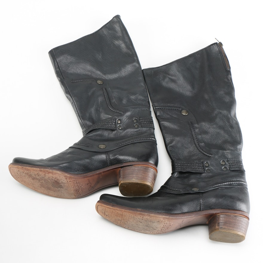 da4d5925bdd Dick Boons Black faux Leather Boots