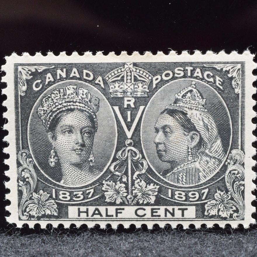 1897 Queen Victoria Jubilee Half Cent Stamp