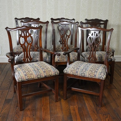 ethan allen chippendale style dining room chairs ebth