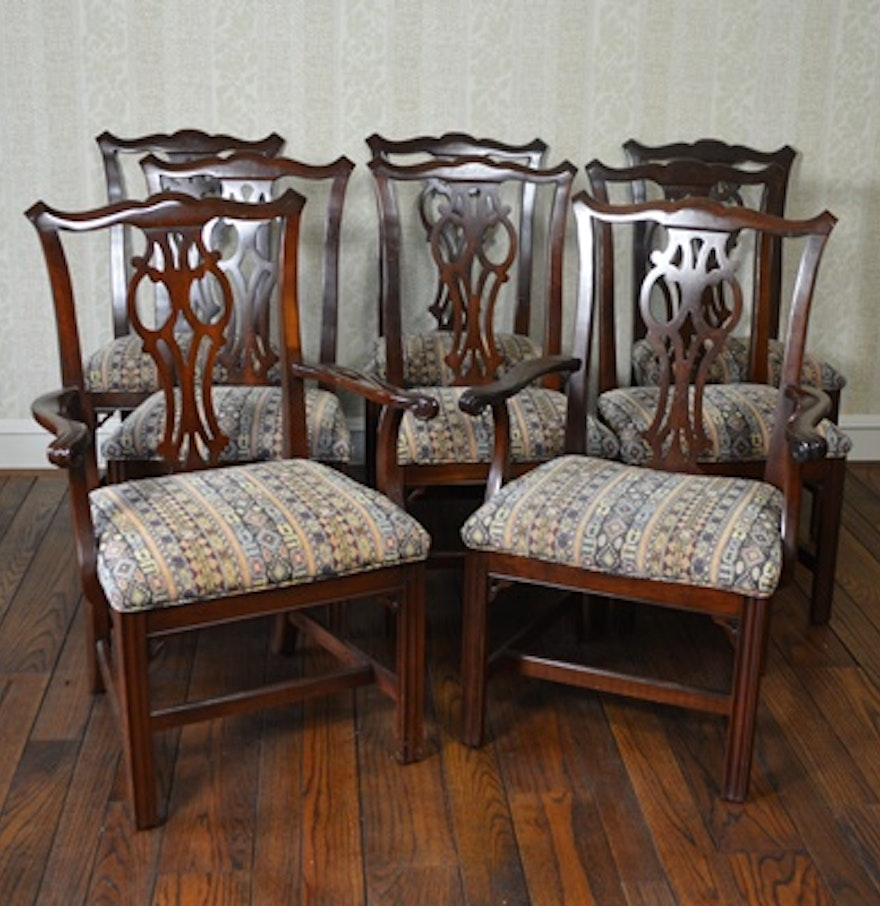 Ethan Allen Dining Room Sets For Sale: Ethan Allen Chippendale Style Dining Room Chairs : EBTH