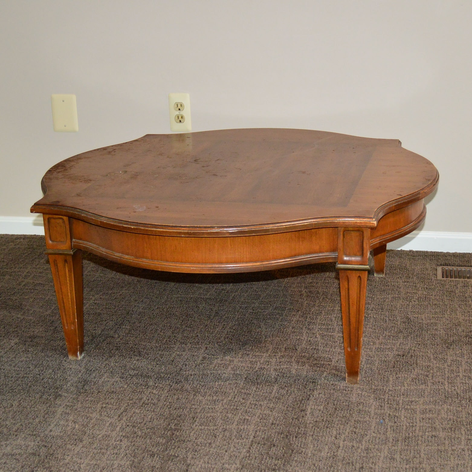Late 20th Century Turtle Back Coffee Table ...