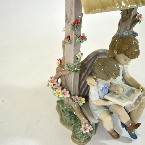 Lladr a reading lesson porcelain figurine ebth - Consider including lladro porcelain figurines home decoration ...