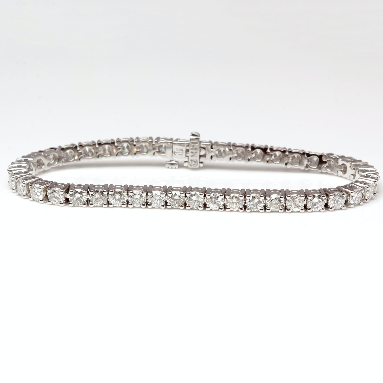 14K White Gold 8.01 Carat Diamond Bracelet