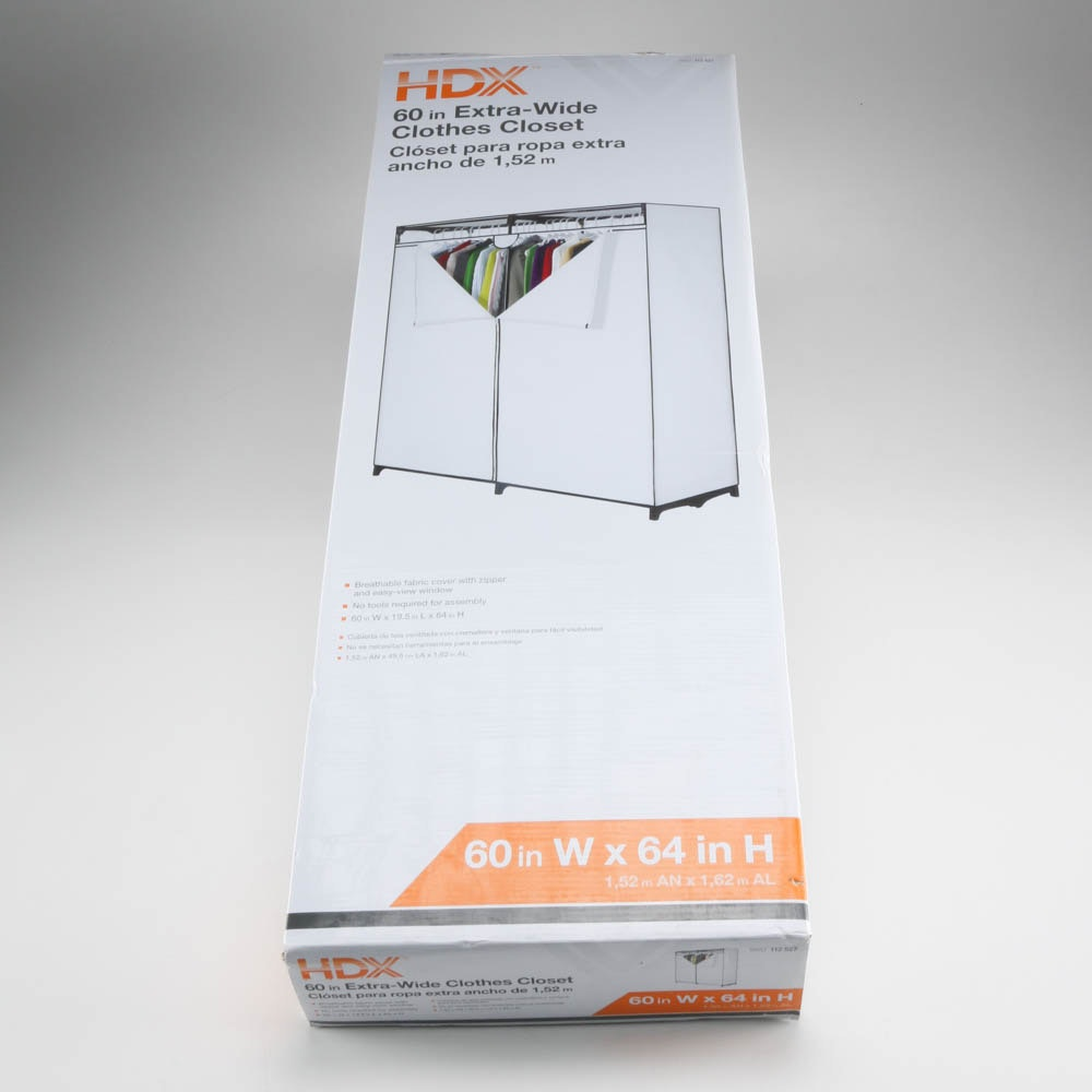 HDX 60in Extra Wide Clothes Closet ...