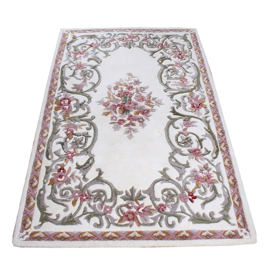 Wool Rugs Made In India: Handmade Indian Wool Pile Rug By Charlemagne
