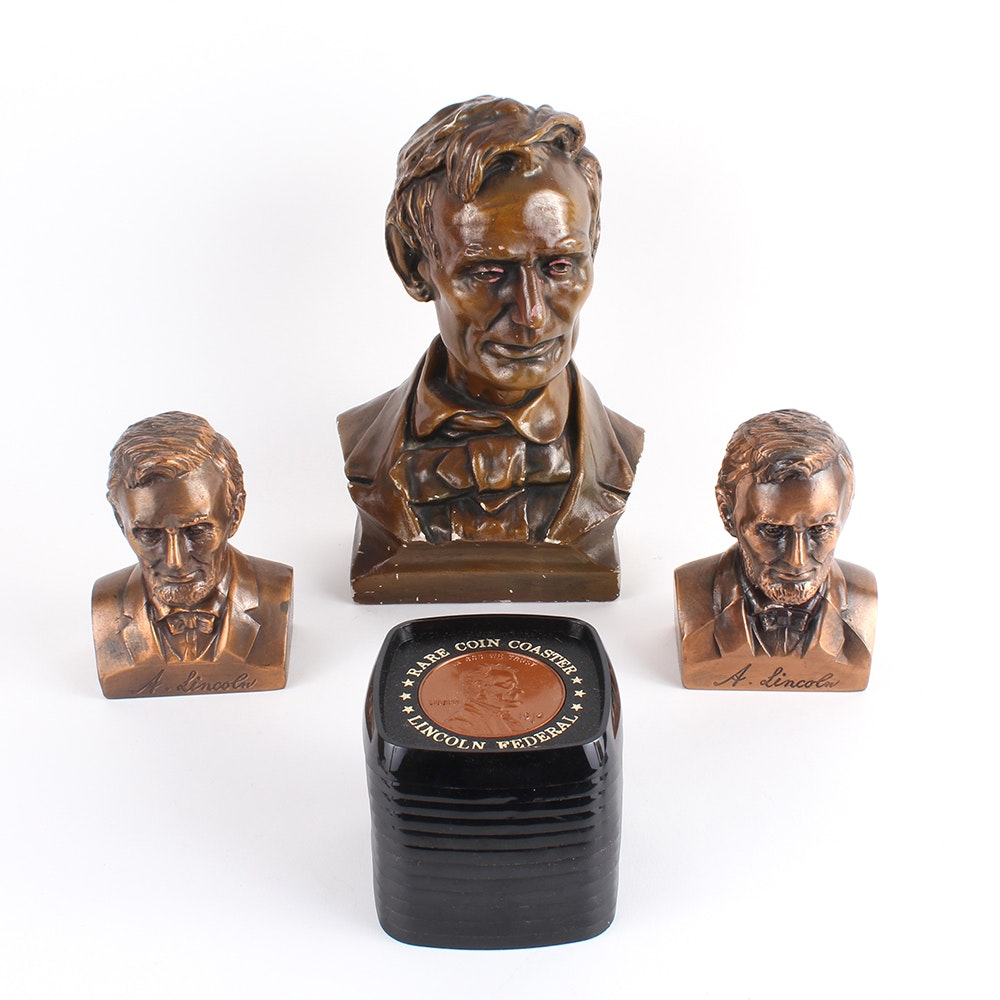 Selection of Abraham Lincoln Themed Decorative Pieces