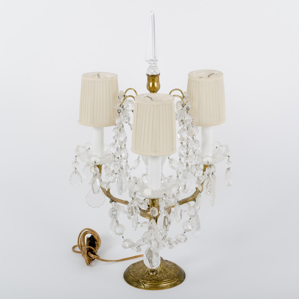 Chandelier Style Crystal Table Lamp