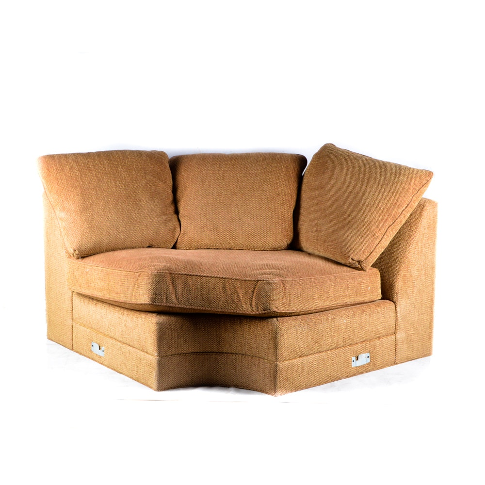 Large Sectional Sofa with Throw Pillows : EBTH