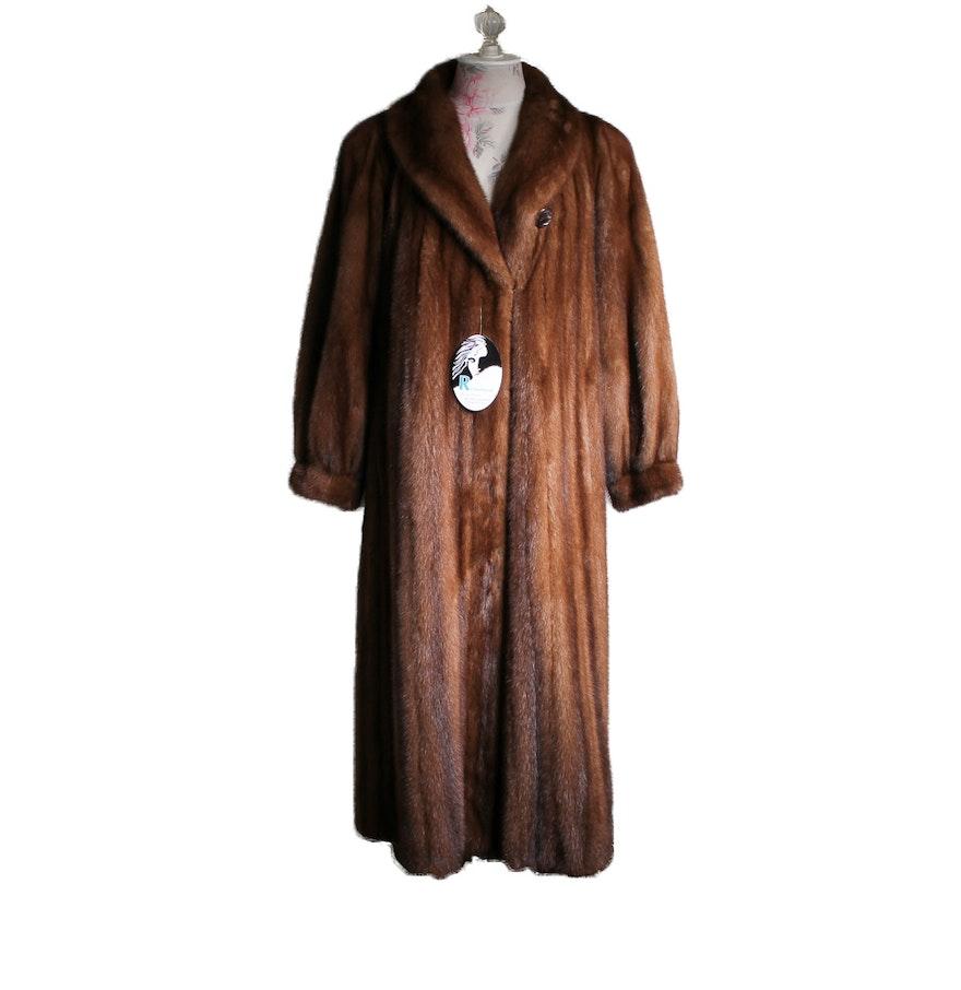 full length mink fur coat by gartenhaus ebth
