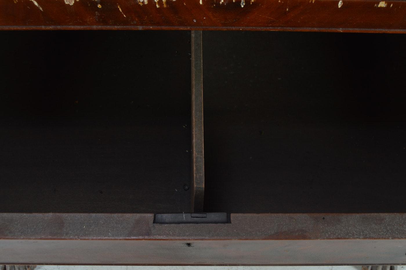 Antique American Empire Style Mahogany Butler S Desk Ebth