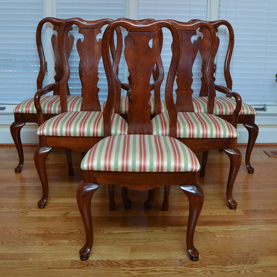 Thomasville Cherry Dining Room Set: Thomasville Queen Anne Style Dining Chairs : EBTH