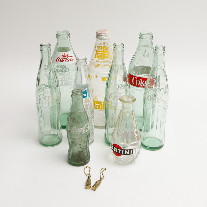 Collection of Vintage  Soda Bottles