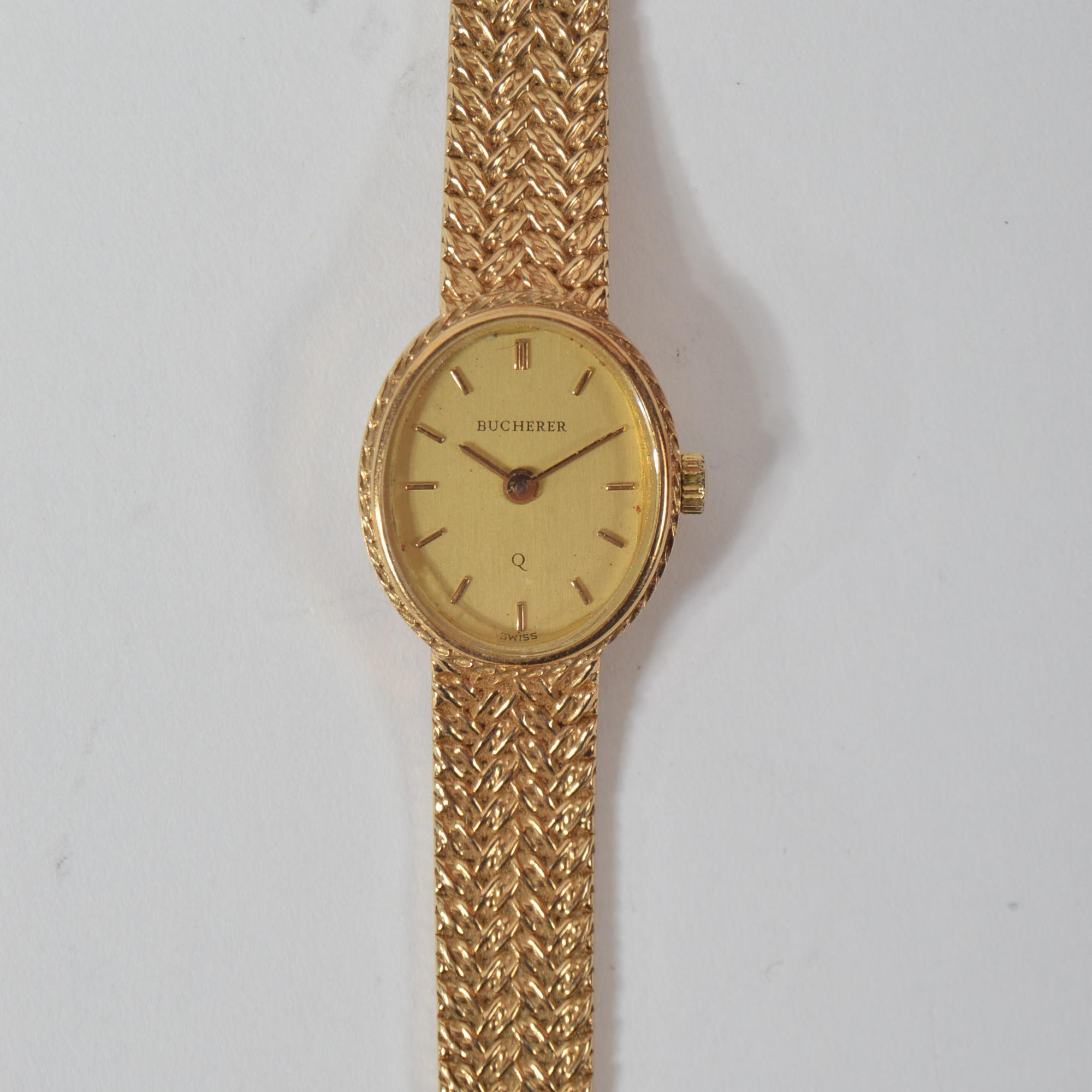 Ladies 14K Yellow Gold Bucherer Watch