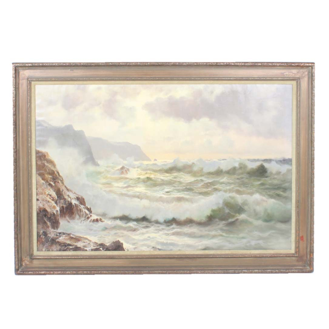 """Guido Odierna Original Large Oil Painting on Canvas """"Surf"""""""