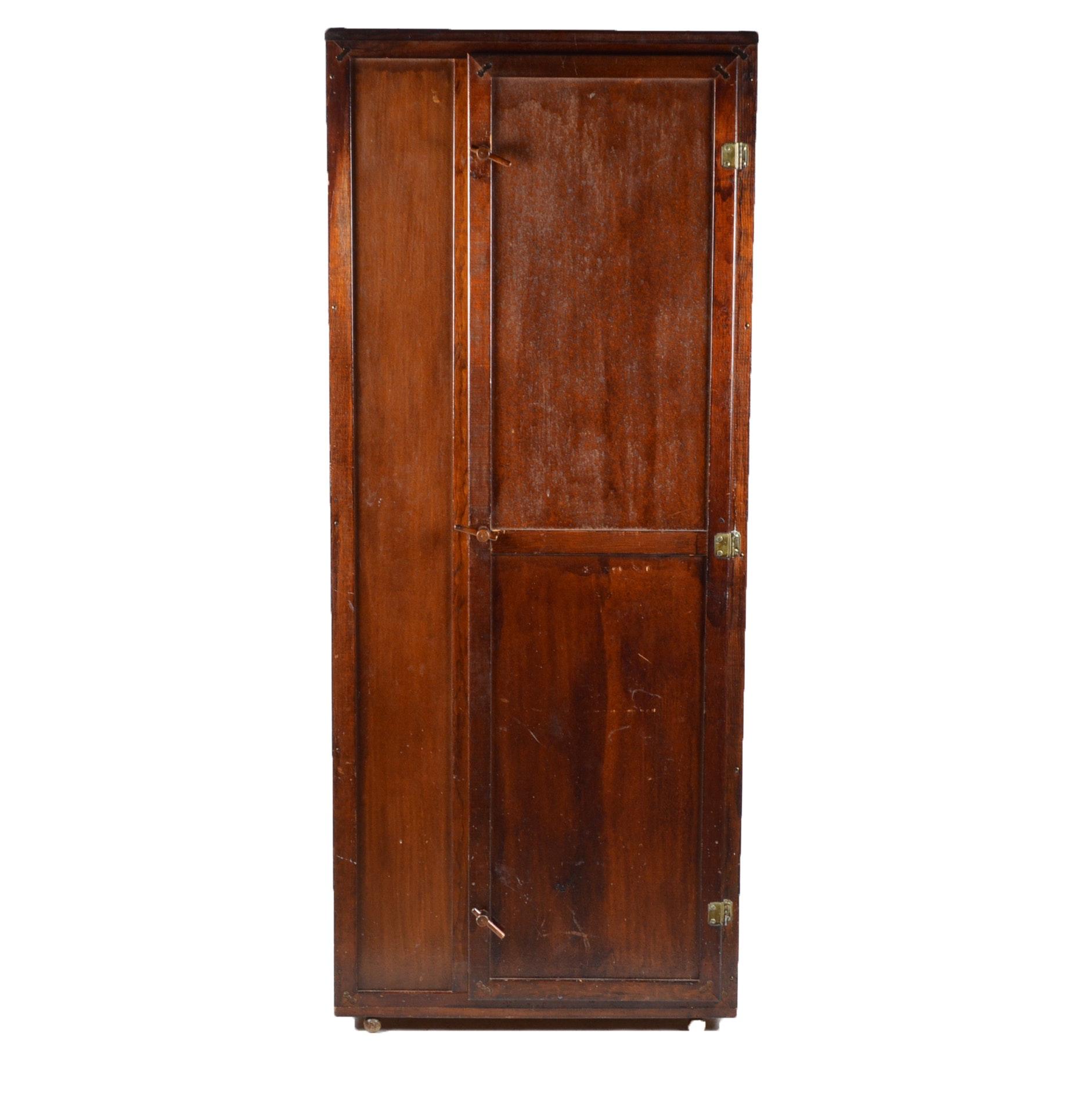 Vintage Cedar Kraft Wardrobe Cabinet Ebth