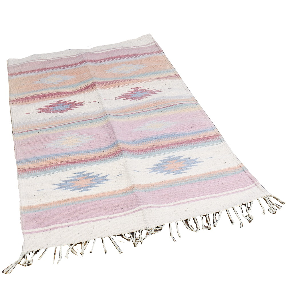 Southwestern Style Hand-knotted Accent Rug or Wall-hanging
