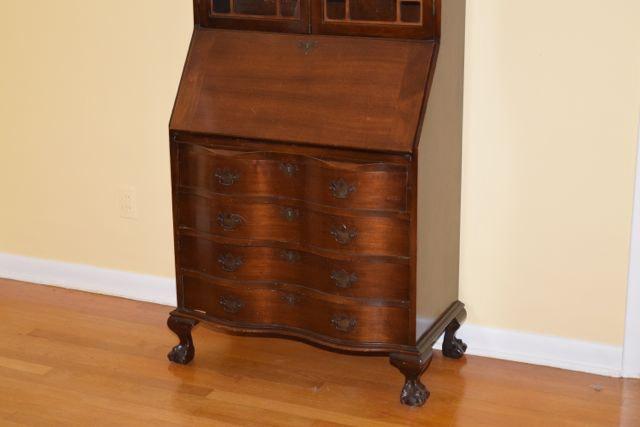 vintage cherry secretary ebth. Black Bedroom Furniture Sets. Home Design Ideas