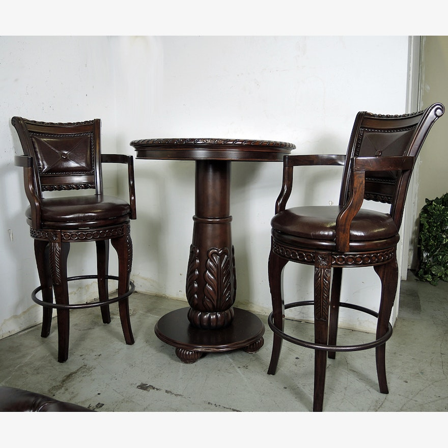 Steve Silver Antoinette Pub Table And Counter Chairs Set