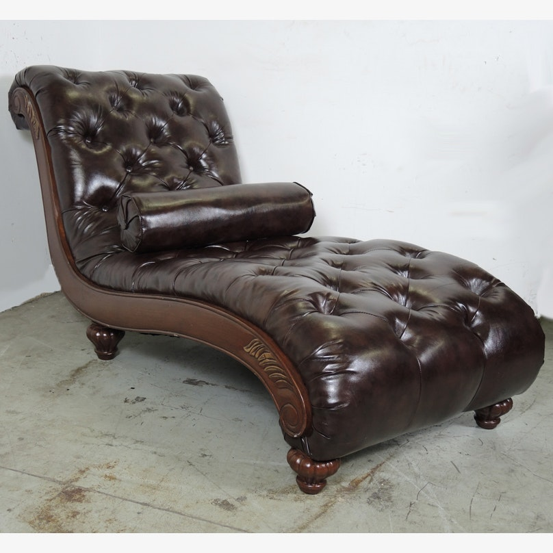 Leather chaise lounge le corbusier style lc4 genuine for Bellagio leather chaise lounge