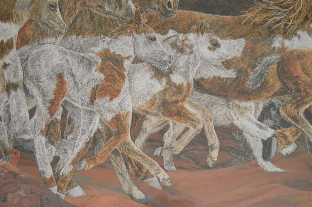 Judy Larson Quot Three Wolves Quot Signed Limited Edition Print W