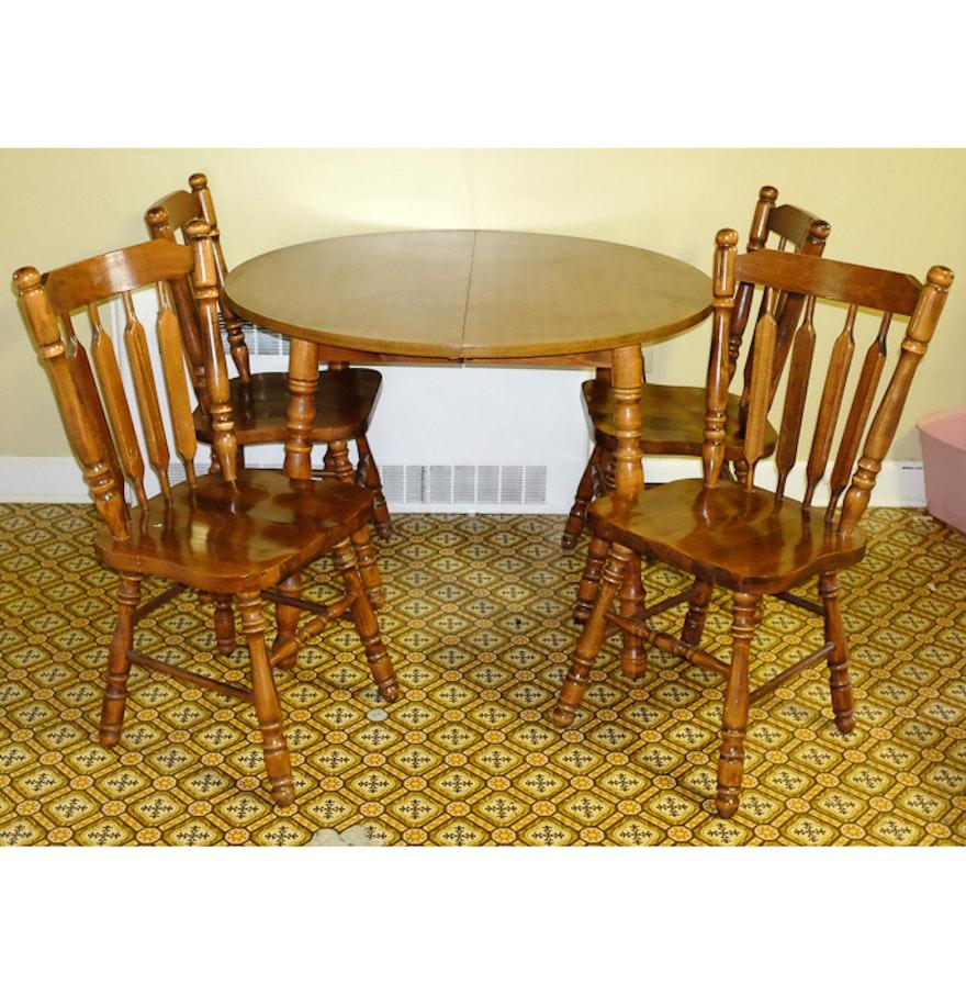 Vintage Five Piece Maple Dining Set EBTH