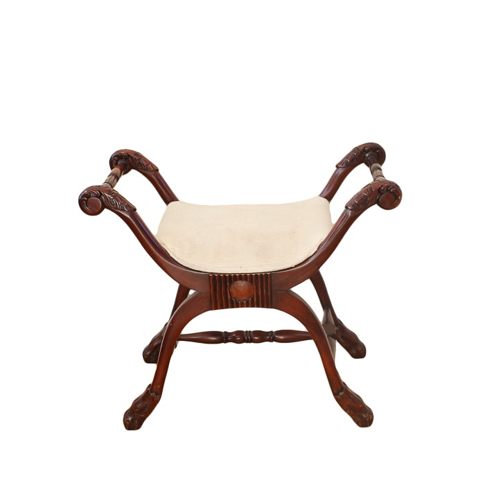 Mahogany Backless Occassional Chair