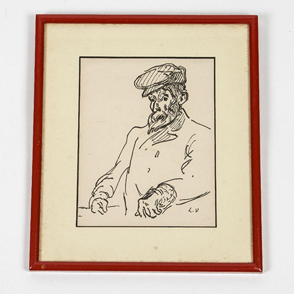 Drawing of Renoir by Louis Valtat