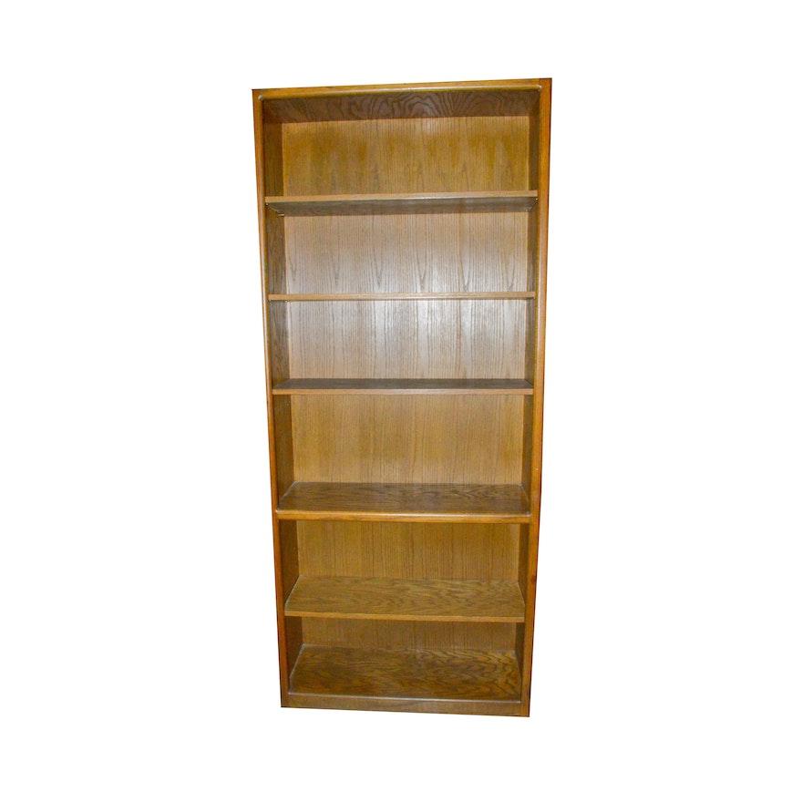 Golden Oak Wood Bookcase