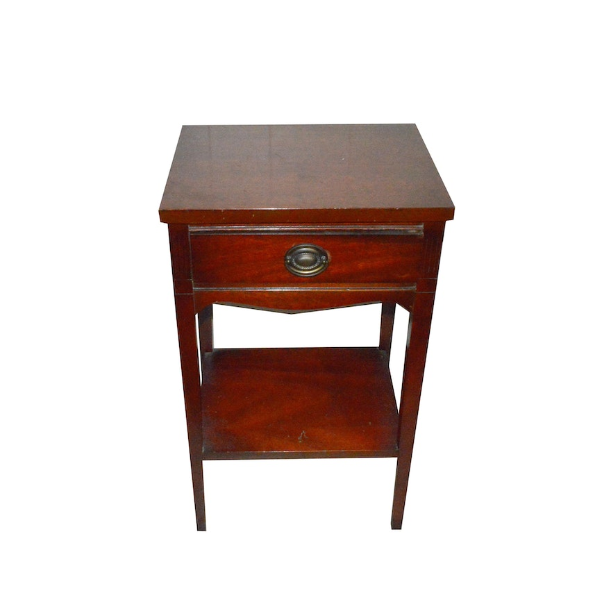Mahogany Night Stand By Dixie Furniture Ebth