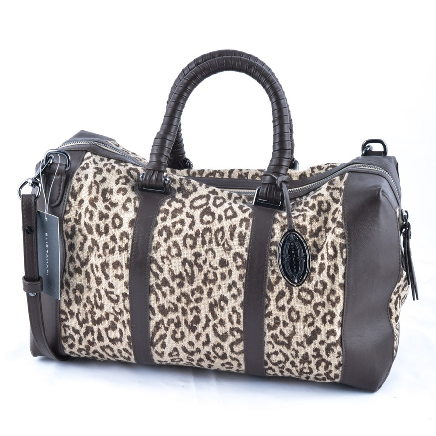 Elie Tahari Linen Canvas Talia Handbag