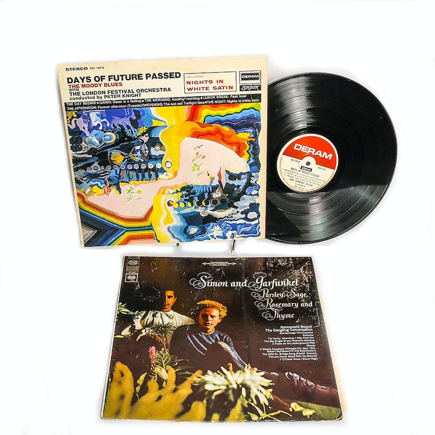 Simon and Garfunkel, Moody Blues LPs
