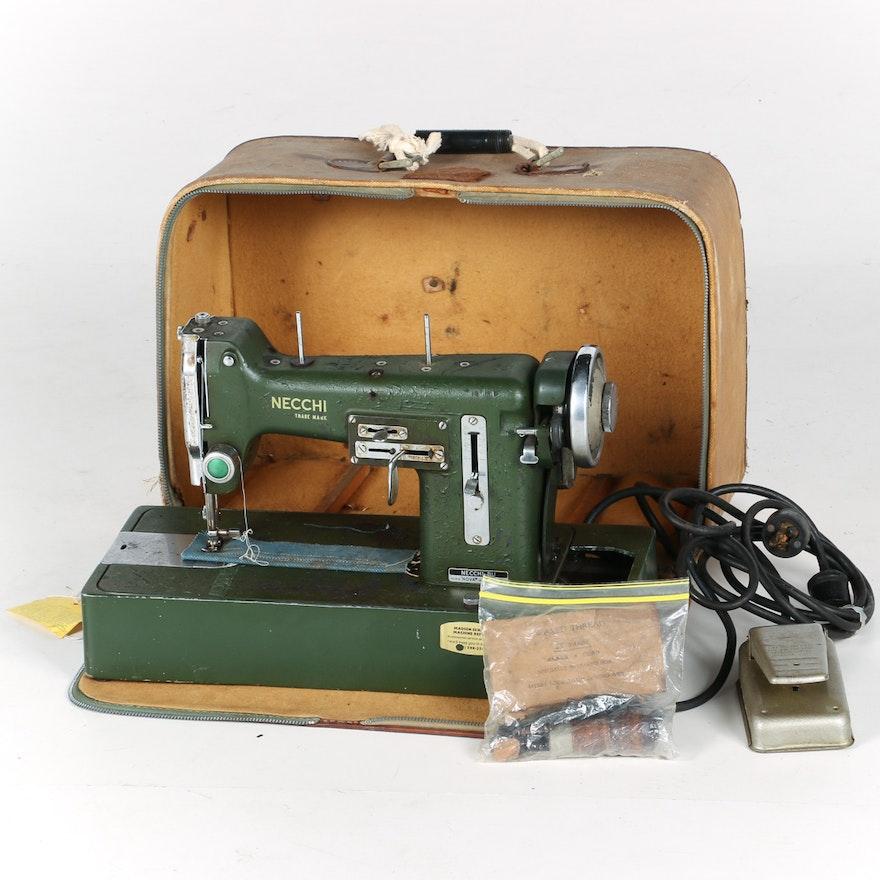 Nova Model Vintage Necchi Sewing Machine EBTH Amazing Necchi Sewing Machine
