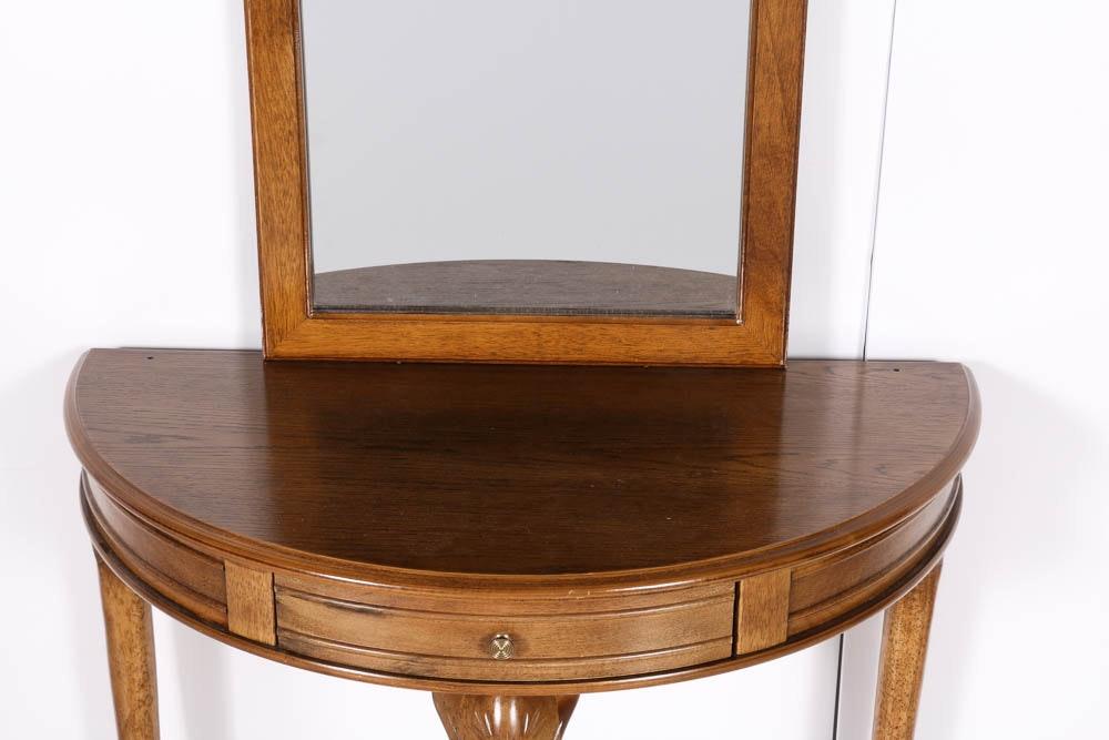Half Moon Foyer Table Mirror : Half moon hall table and wall mirror ebth