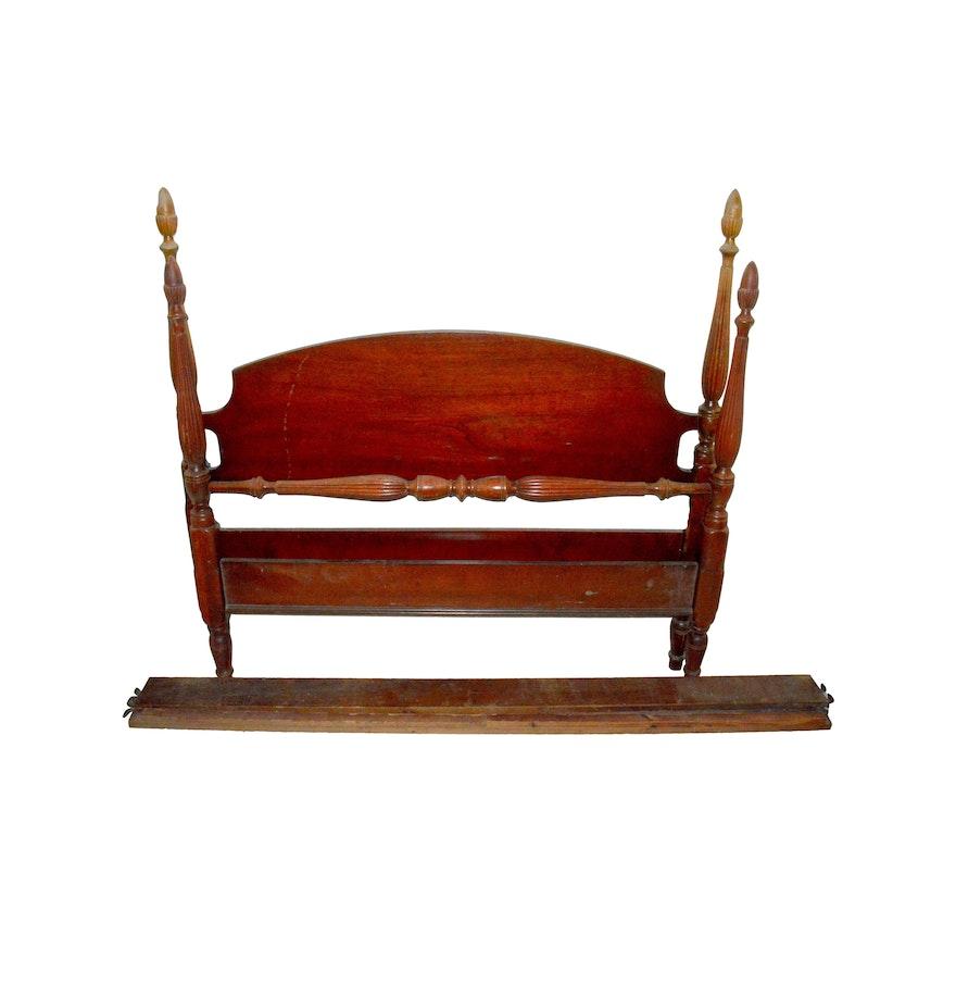 mahogany bed frame set by dixie furniture - Mahogany Bed Frame
