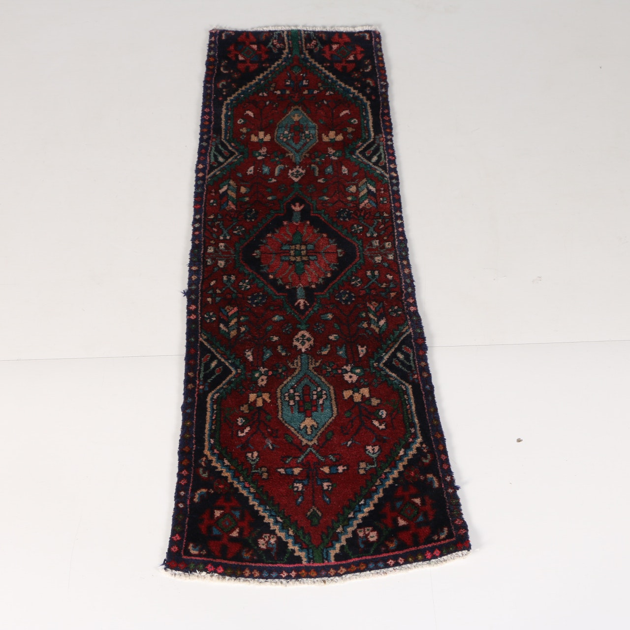 Vintage Hamden Handwoven Anatolian Runner Rug