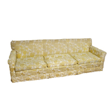 Vintage Yellow And White Floral Sofa ...