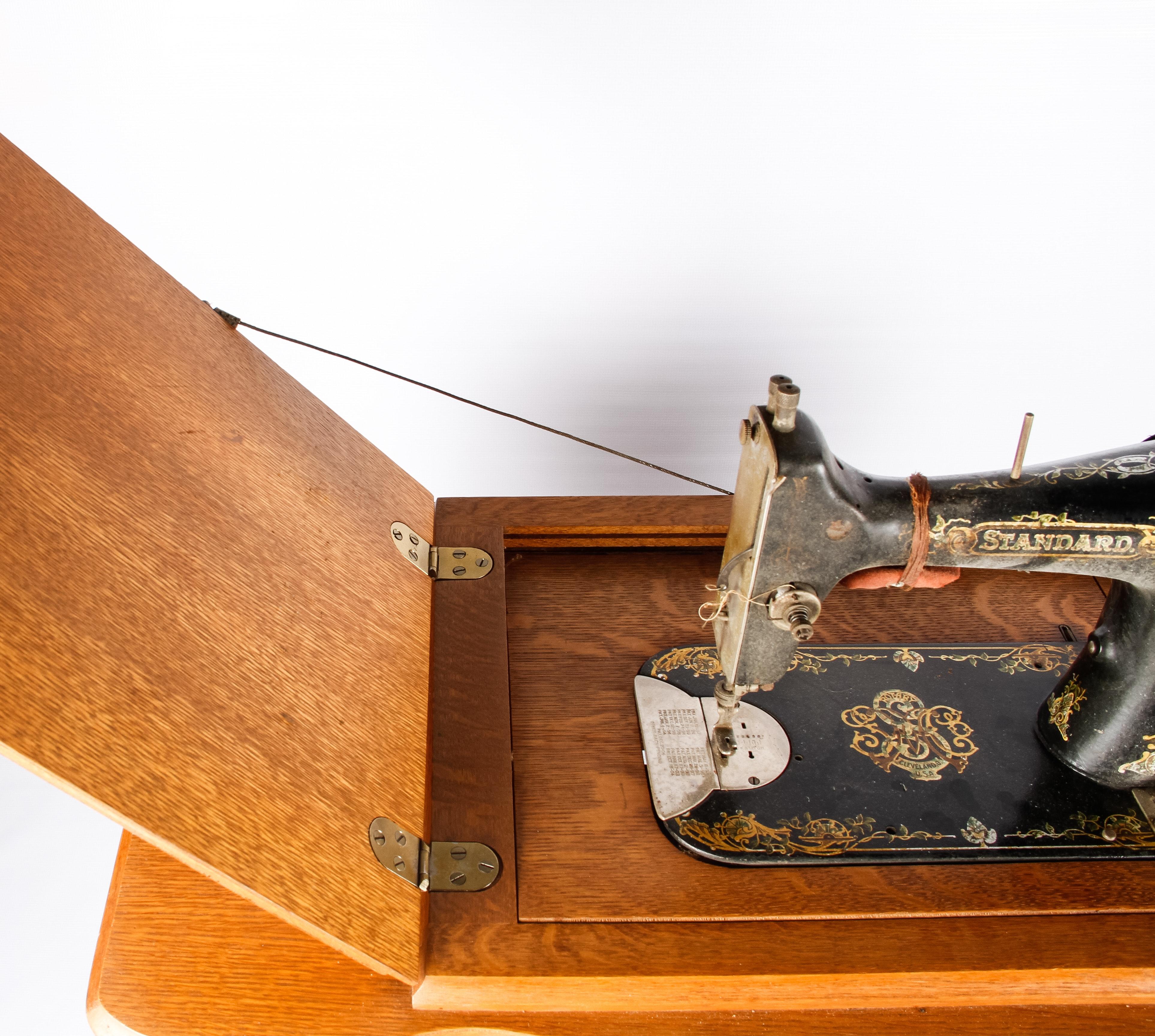 vintage standard sewing machine