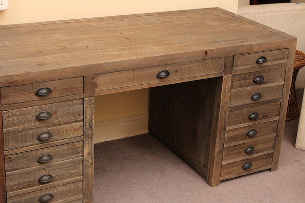Rustic Reclaimed Wood Desk Ebth
