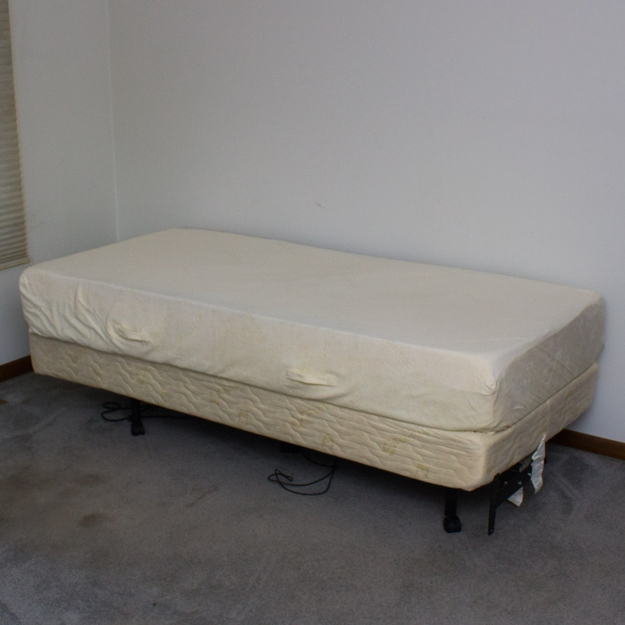 Tempur-Pedic Deluxe Twin Size Mattress and Box Spring Frame : EBTH