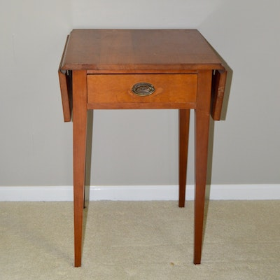 Vintage Walter Of Wabash Cherry Drop Leaf Table Ebth