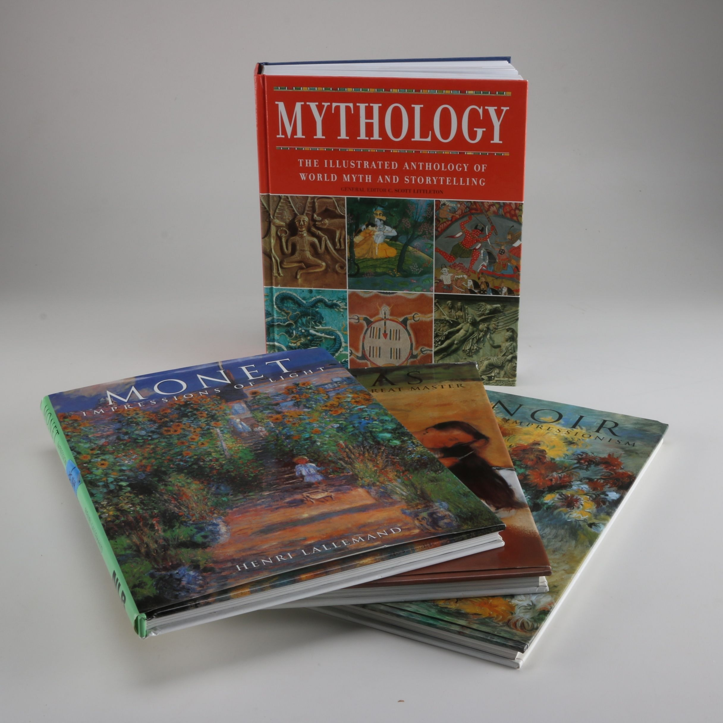 Early 2000s Group Of Impressionist Painters And Mythology Books Ebth