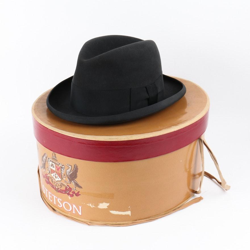 Vintage Stetson Homburg Hat   EBTH 4759ef1ff43