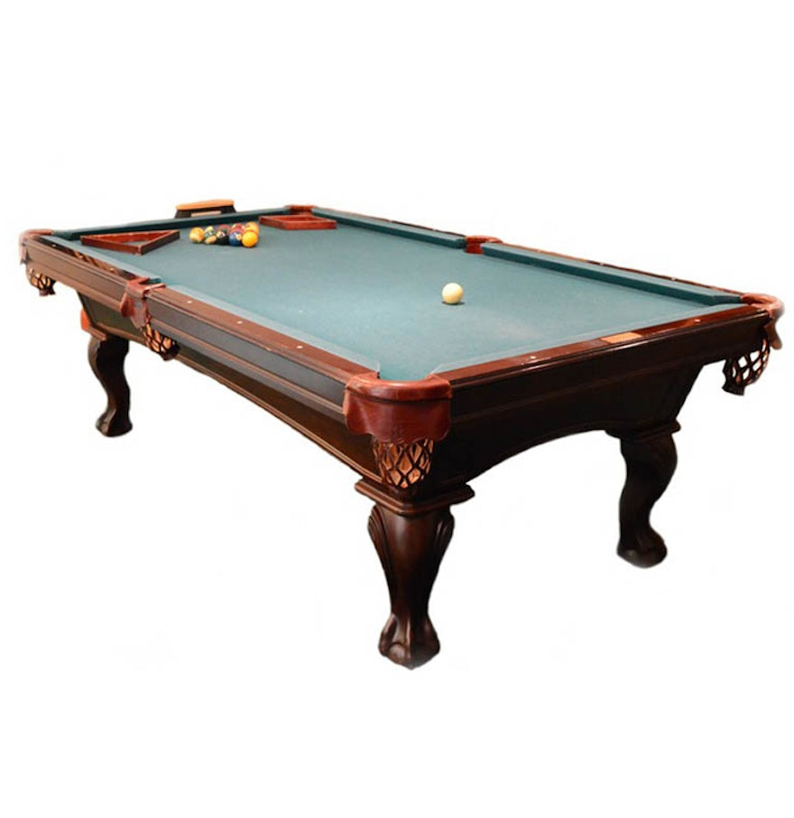Olhausen cherry wood eight foot pool table ebth for 10 foot pool table