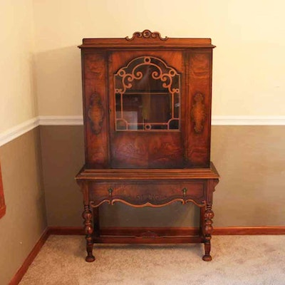 jacobean style china cabinet ebth
