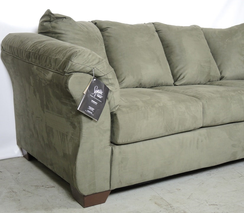 New Ashley Signature Design Darcy Sofa In Sage Green : EBTH